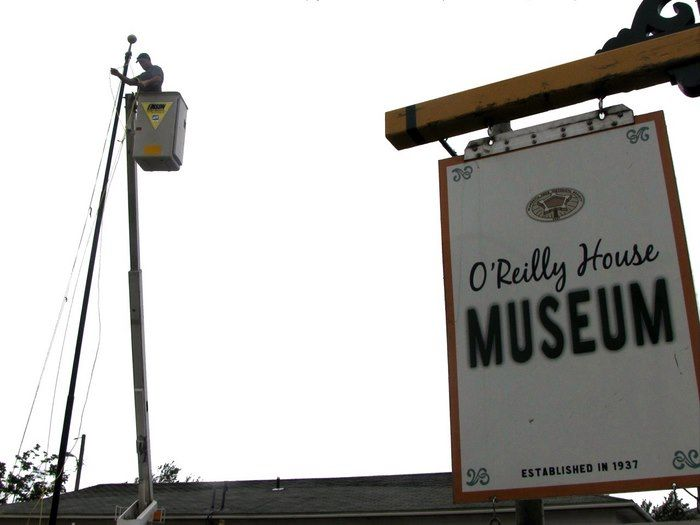 Floyd Edison goes high for museum